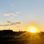 日の出を拝む