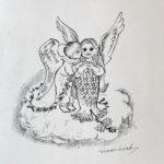 アマビエと天使のお札