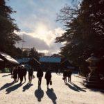 北海道神宮詣の春光