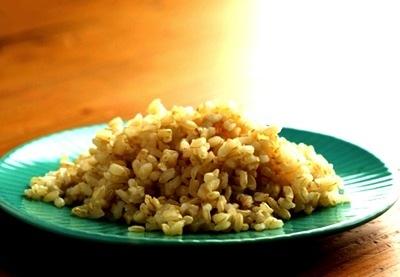 毒出しに玄米ごはん。